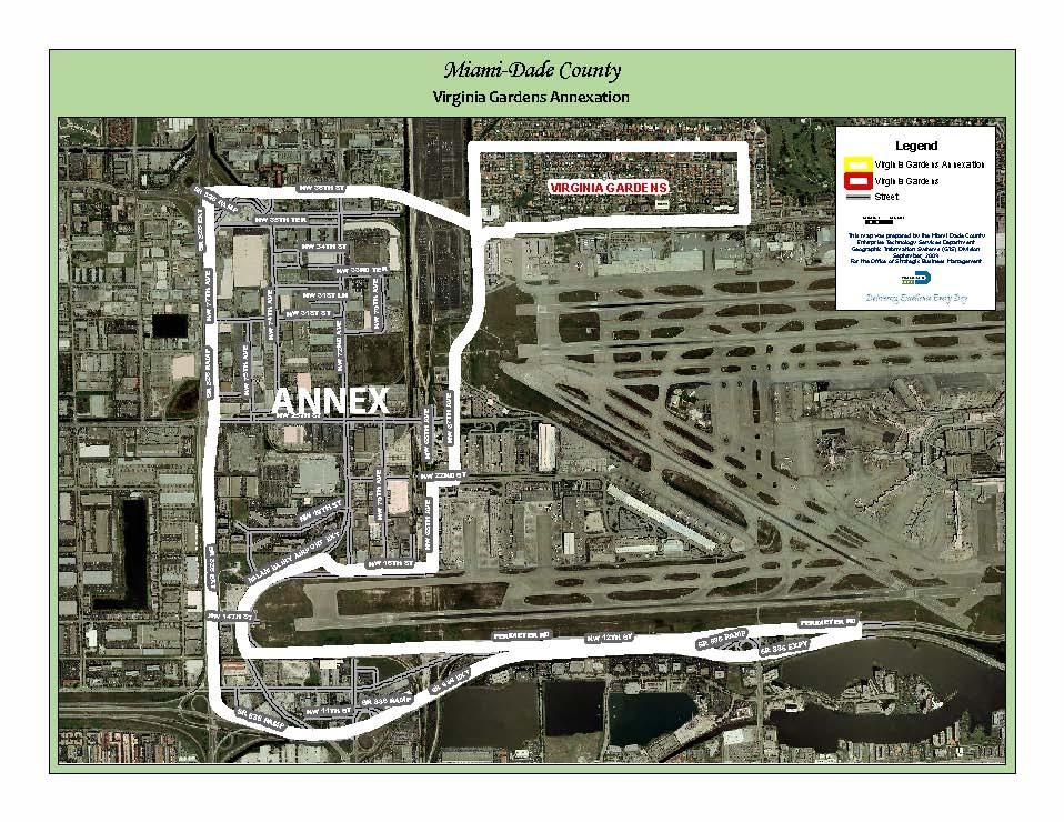 virginia gardens annexation map miami dade county