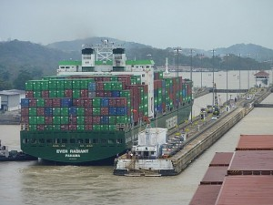 cargo ship panamax panama canal