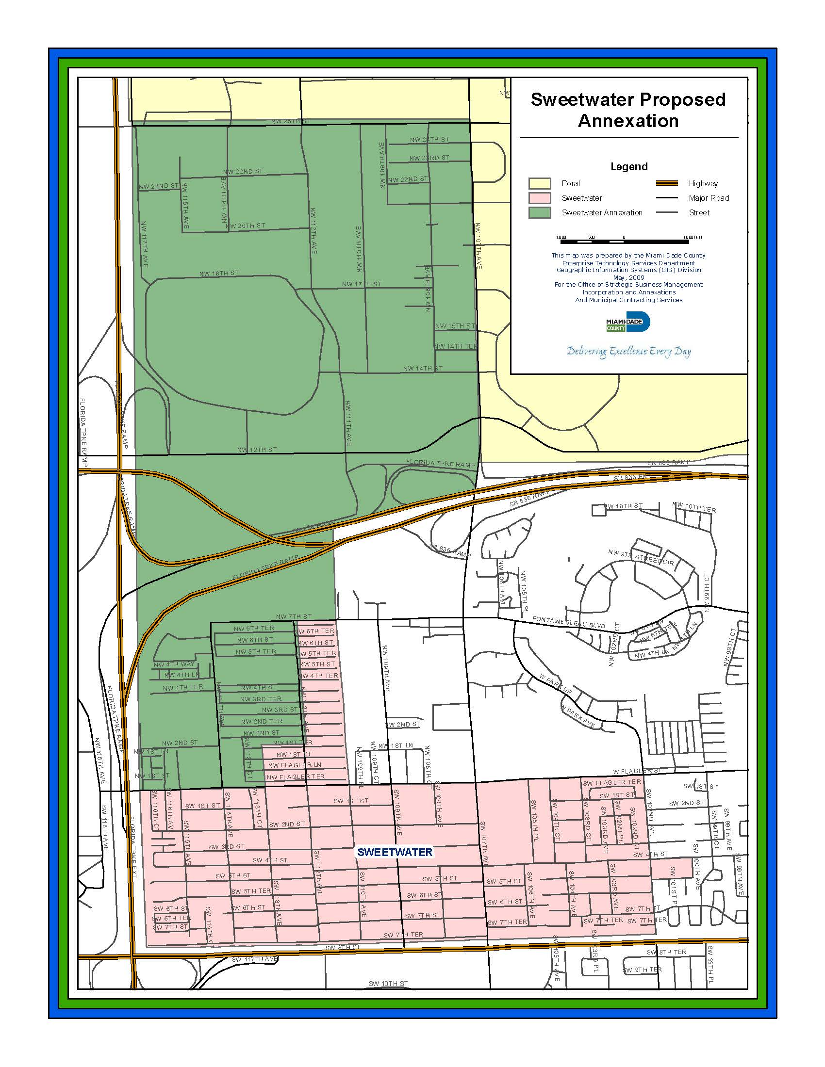 City of Sweetwater Florida Annexation