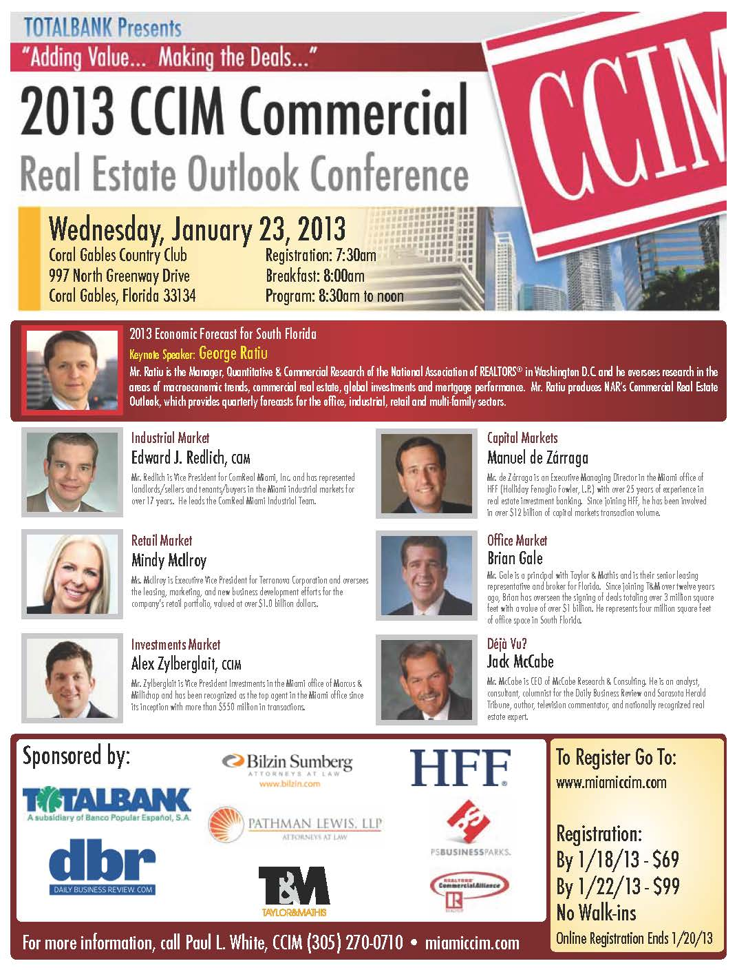 ccim miami outlook conference 2013