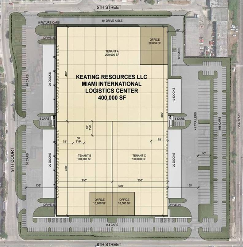 miami international logistics center site plan