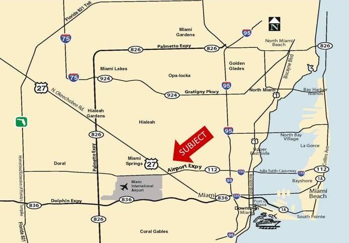 miami logistics center map