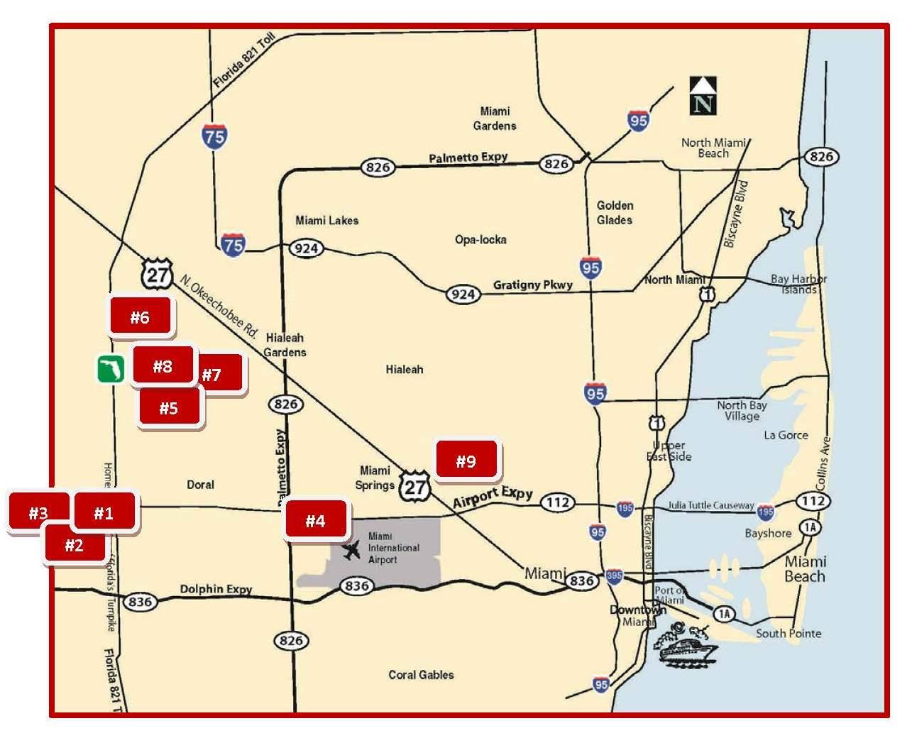 miami warehouses map