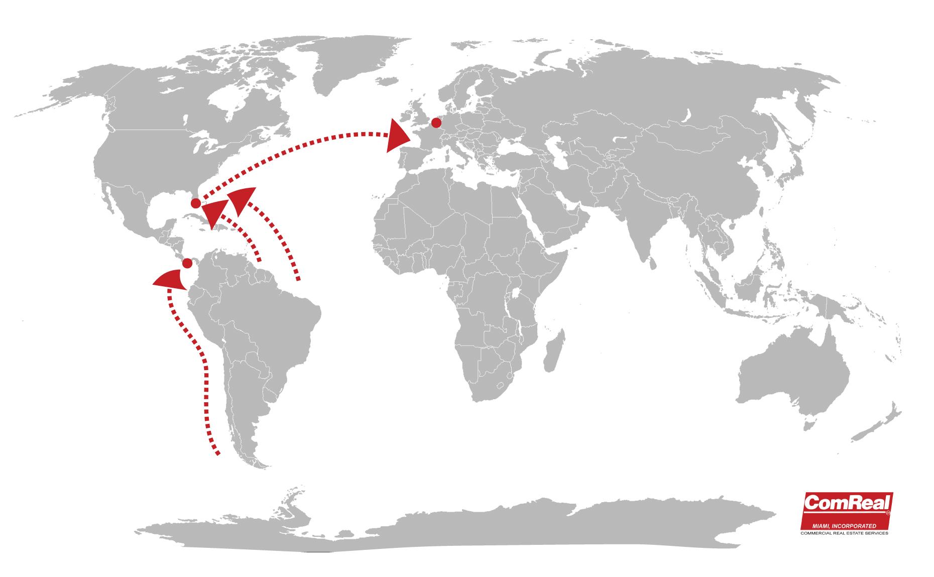 netherlands europe miami latin america map
