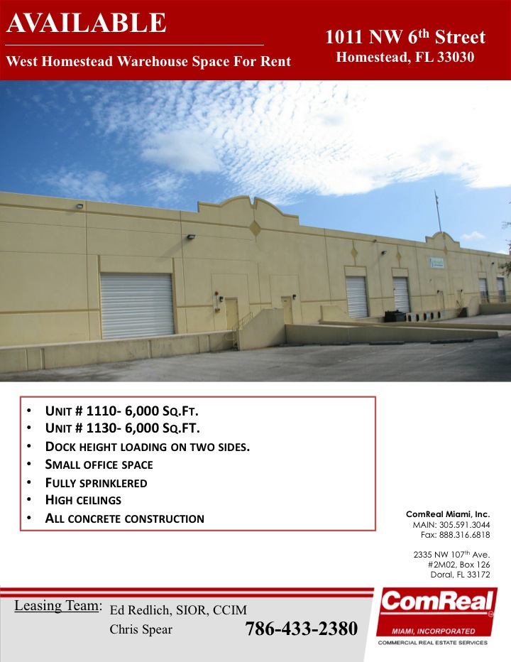 homestead warehouse space for rent