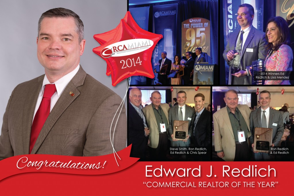 Edward J. Redlich SIOR CCIM Commercial Agent Of The Year