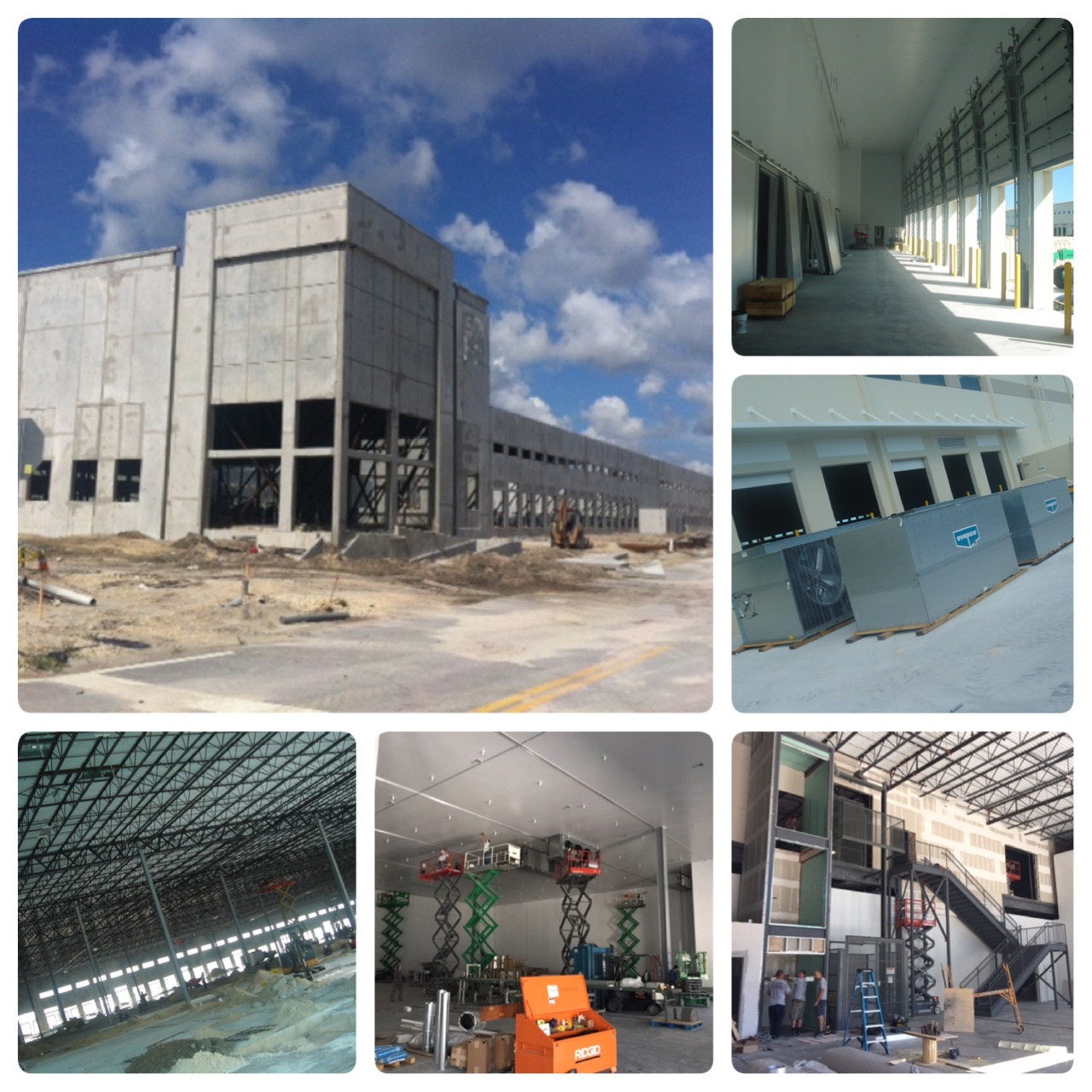 Building #2 under construction at South Florida Logistics Center in Miami