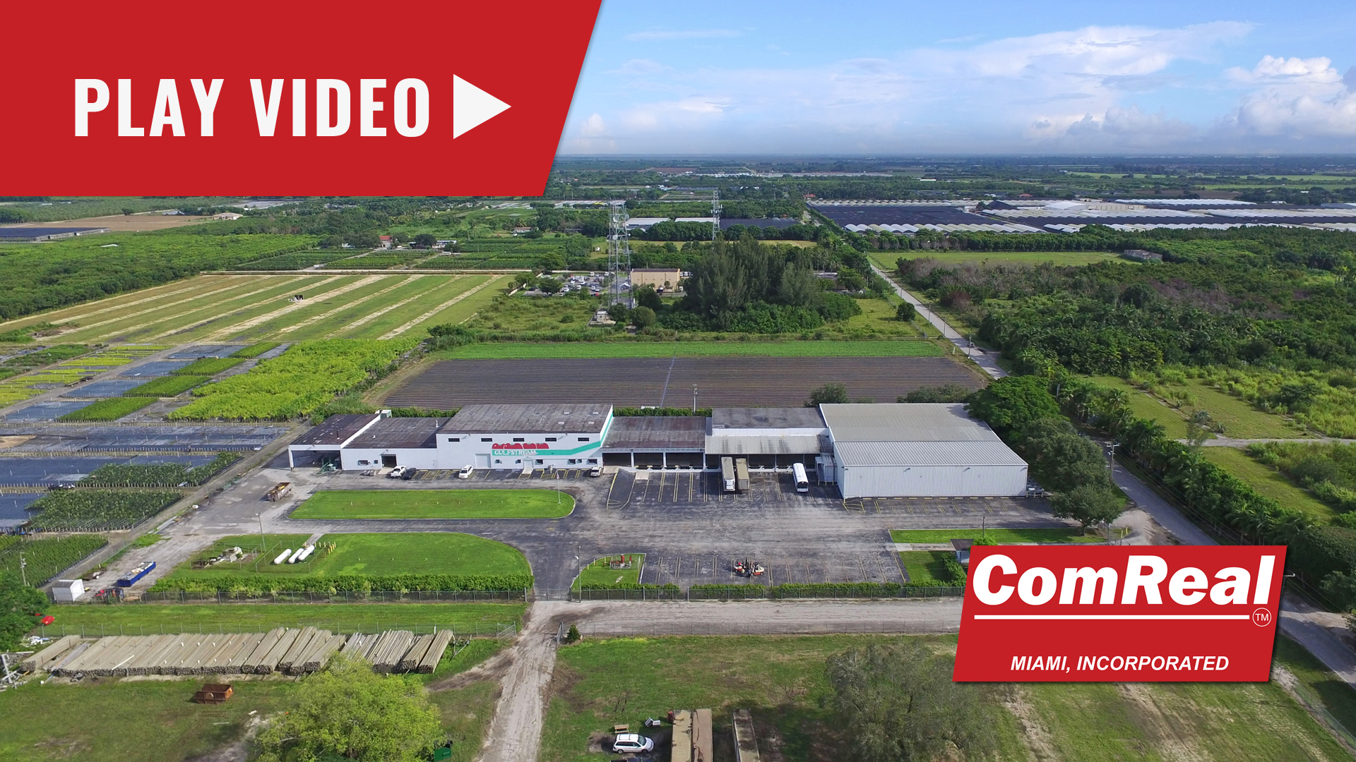 redland warehouse aerial video