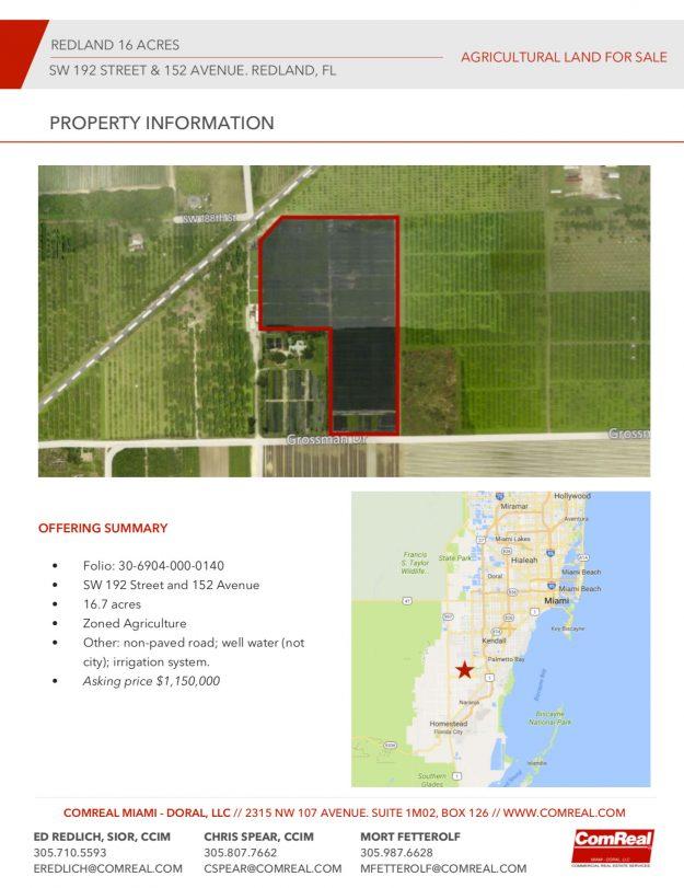 Land For Sale Redlands Fl