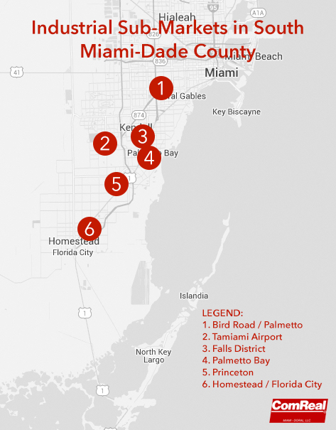 Industrial Real Estate Sub-Markets in South Miami-Dade County