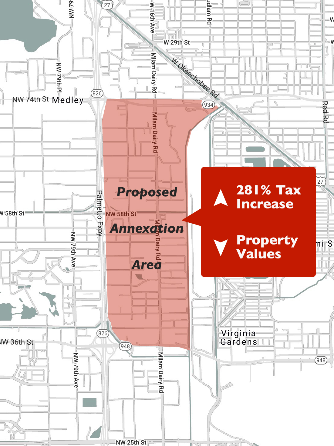 annexation map miami springs